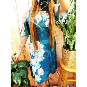 Anthropologie cold shoulder floral dress 🌿